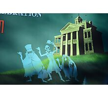 Haunted Mansion Haunted House Hitch Hiking Ghosts Photographic Print