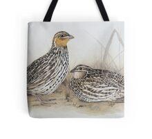Stubble quails Tote Bag