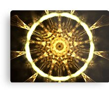 Gold Web Metal Print