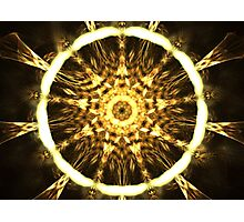 Gold Web Photographic Print