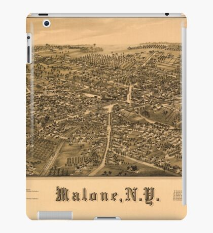 Panoramic Maps Malone NY iPad Case/Skin