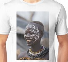 Karo tribe female with painted face. Omo Valley, Ethiopia Unisex T-Shirt