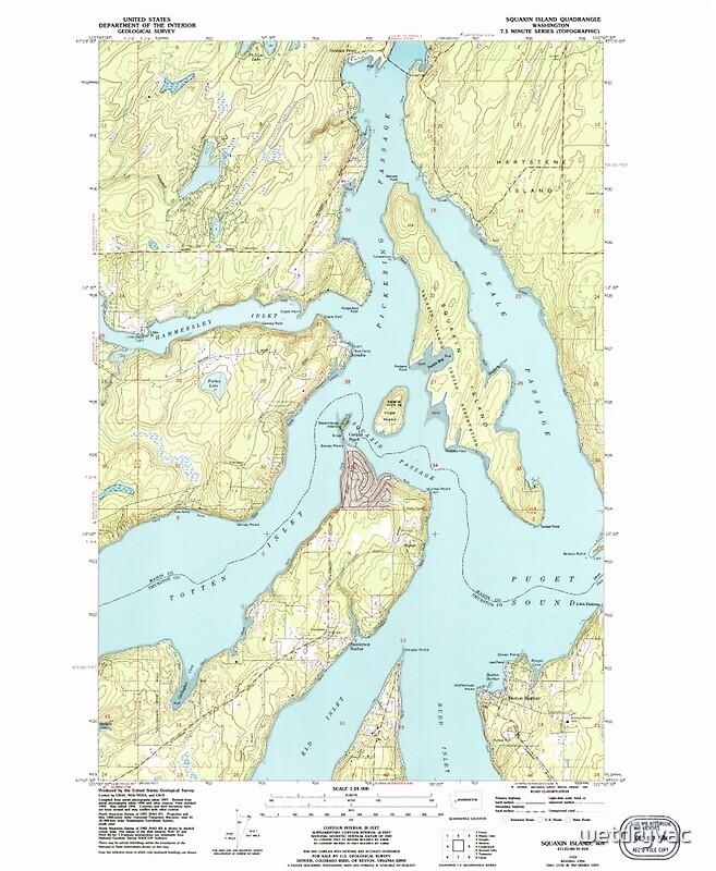 QuotUSGS Topo Map Washington State WA Squaxin Island 243982