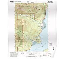 USGS Topo Map Washington State WA Brinnon 240237 1999 24000 Poster