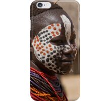 Karo tribe female with painted face. Omo Valley, Ethiopia iPhone Case/Skin