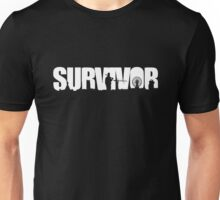 Survivor - White Ink Unisex T-Shirt