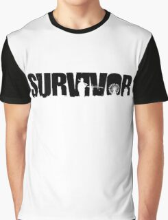 Survivor - Black Ink Graphic T-Shirt
