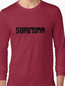 Survivor - Black Ink Long Sleeve T-Shirt