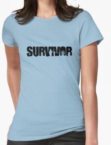 Survivor - Black Ink Womens Fitted T-Shirt