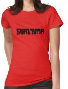 Survivor - Black Ink Womens Fitted T-Shirt