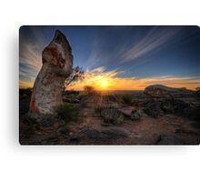 Sculptured Sunset Canvas Print