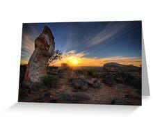 Sculptured Sunset Greeting Card