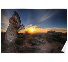 Sculptured Sunset Poster