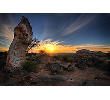 Sculptured Sunset Photographic Print