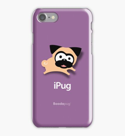Tugg the Pug iPhone and iPod Cases (Purple) iPhone Case/Skin