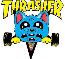 Skate Kitty   Sticker by Neil Manuel