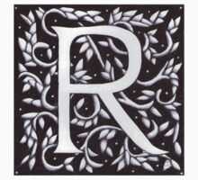 William Morris Letter R Sticker by Donna Huntriss
