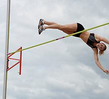 Womens Pole Vault by Bob Christopher