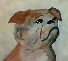 Pepe, my for always bud, watercolor by Anna  Lewis