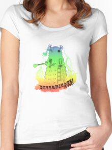 EXTERMINATE is fun! Women's Fitted Scoop T-Shirt