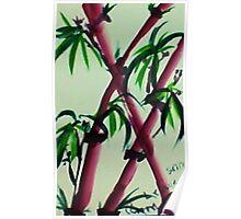 Bamboo #2, watercolor Poster
