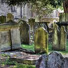 The old grave yard of All Saints Maidstone by larry flewers