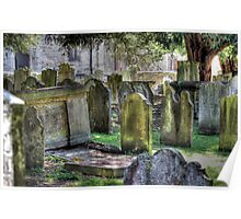 The old grave yard of All Saints Maidstone Poster