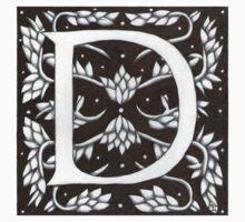 William Morris Letter D Sticker by Donna Huntriss