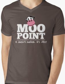 A Moo Point Mens V-Neck T-Shirt