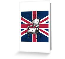 uk flag british union jack vintage rococo chair Greeting Card