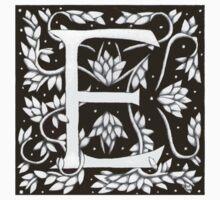 William Morris Letter E Sticker by Donna Huntriss