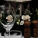 Wine Glass and Centre Piece by Sonja Wells