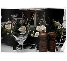 Wine Glass and Centre Piece Poster