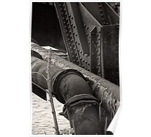Railroad bridge supports Franklin, Ohio Poster
