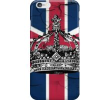 British union jack flag jubilee vintage crown  iPhone Case/Skin