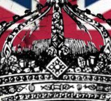 British union jack flag jubilee vintage crown  Sticker