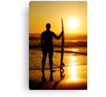 A surfer watching the waves Canvas Print