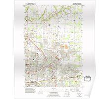 USGS Topo Map Washington State WA Orchards 242981 1990 24000 Poster