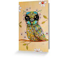 the peridot owl Greeting Card