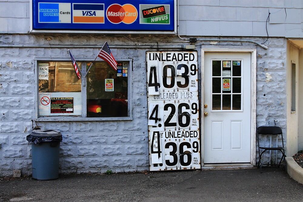 Congers, New York - Gas Station by Frank Romeo
