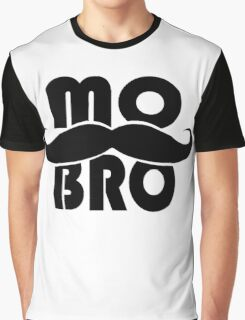 MO BRO for Mustached Gentlemen ~ MOVEMBER Graphic T-Shirt