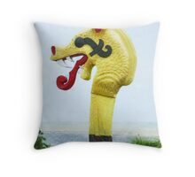 The Viking Figurehead  Throw Pillow
