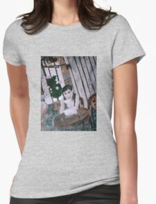 Girl in Cafe Womens Fitted T-Shirt