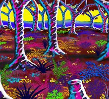 """""""Tropical Punch Forest"""" by Steve Farr"""