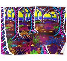 """""""Tropical Punch Forest"""" Poster"""