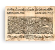 Panoramic Maps Spencer Massachusetts 1892 Canvas Print