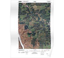 USGS Topo Map Washington State WA Colton 20110406 TM Poster