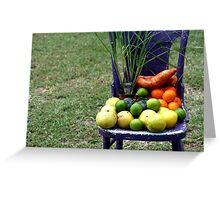 Farmer's Market Goodies Greeting Card