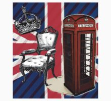 modern jubilee telephone booth london UK fashion Kids Clothes