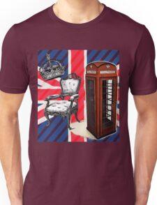 modern jubilee telephone booth london UK fashion Unisex T-Shirt